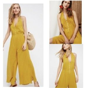 NWOT Free People Halter Jumpsuit Wide Leg Endless